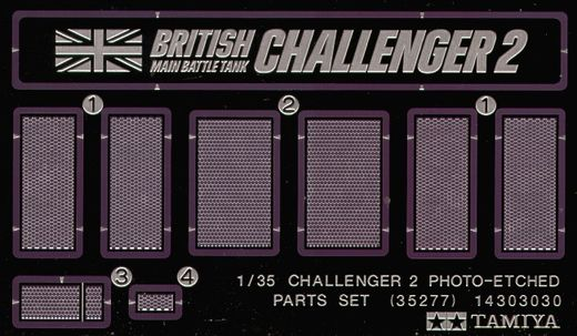 British Challenger 2 Grille set (designed to be used with Tamiya kits) 1/35