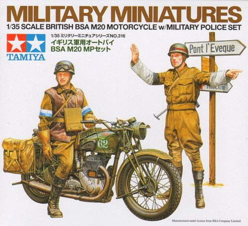 BSA M20 Motorcycle with British Military Police 1/35