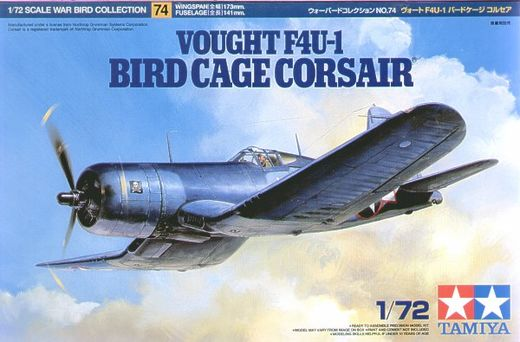 Vought F4U-1 bird cage corsair 1/72