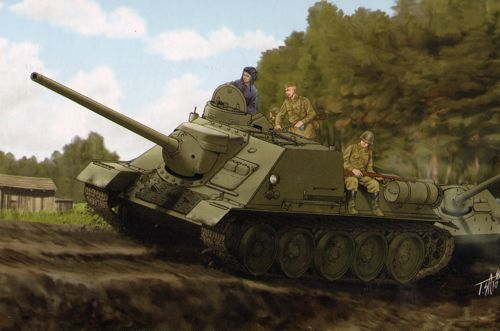 Soviet SU-100 tank destroyer 1/16