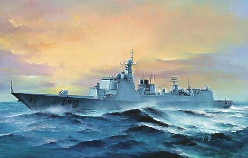Chinese Navy Lanzhou Type 052C destroyer 1/350