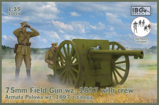 75mm French Field Gun wz.1897 with crew 1/35