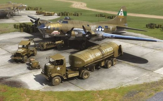 Eighth Air Force: Boeing B-17G & Bomber Re-supply Set 1/72