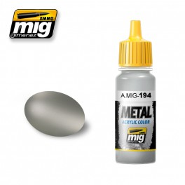 ACRYLIC metallic paint Matt Aluminium 17ml
