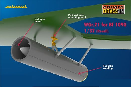 WGr.21 rockets for Messerschmitt Bf 109G-6 REV 1/32