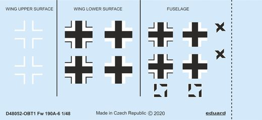 Fw 190A-6 national insignia 1/48  EDUARD