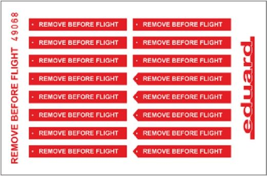 Remove Before Flight FABRIC 1/48