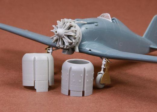 Fiat G.50/bis engine & cowling set for Fly kits 1/72
