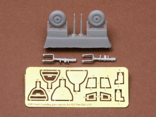 Fiat G.50/bis undercarriage set for Fly kit 1/72