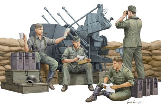 WW2 German AA-gun crew 1/35