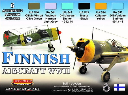 Finnish Aircraft WWII Camouflage set - 6 colors