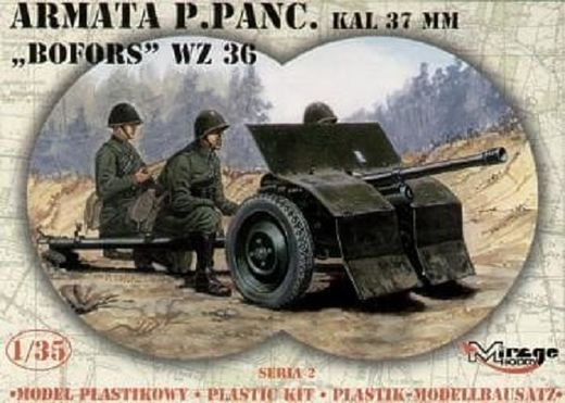 Bofors 37mm wz 36 anti-tank gun 1/35