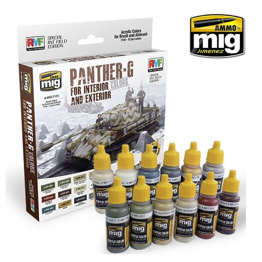 PANTHER-G Colors Set for Interior and Exterior Set - ACRYLIC