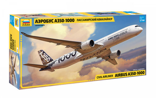 Civil airliner Airbus A350-1000 1/144
