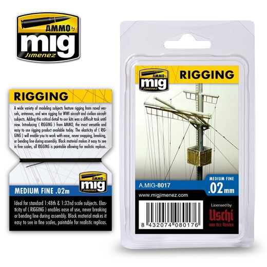 RIGGING –MEDIUM FINE 0.02 MM - TAKILOINTILANKA 2m
