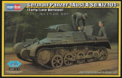 German Panzer 1 Ausf A Sd.Kfz.101 (Early/Late Version) with Interior 1/35