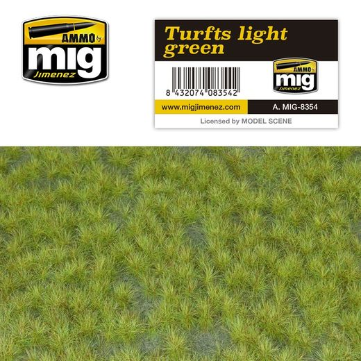TURFS LIGHT GREEN - RUOHOMATTO  1/35 & 1/72