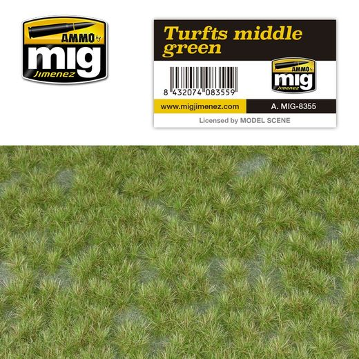 TURFS MIDDLE GREEN - RUOHOMATTO  1/35 & 1/72