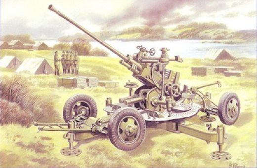 37mm anti-aircraft gun m1939 61-K (early prod.)  1/48
