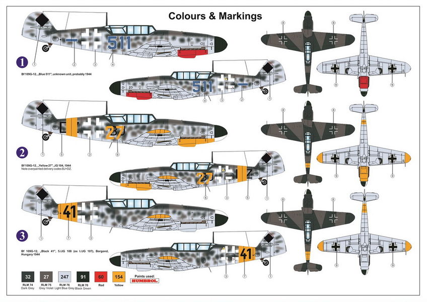 Kuvahaun tulos: az model Messerschmitt Bf 109G-12 Based on Bf 109G-4